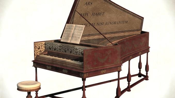Flämisches Cembalo, der Produktion der Familie Ruckers nachempfunden - das hier verwendete 3D-Modell stammt von TheNess.