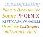 Schriftproben für die Anastratin Steampunk
