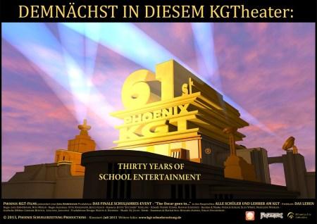 Plakat zur nahenden Phoenix Nr. 61, der dritten großen Druckausgabe im Schuljahr 2012/2013 - sie soll Anfang Juli erscheinen.