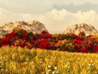 Auf den ersten Blick präsentieren sich weite Landstriche von Süd-Ninda romantisch herbstlich, auf den zweiten allerdings sind viele Pflanzen schlicht frühzeitig verdorrt.