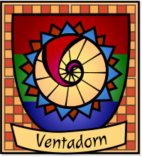 Kleines Wappen der Polis von Ventadorn