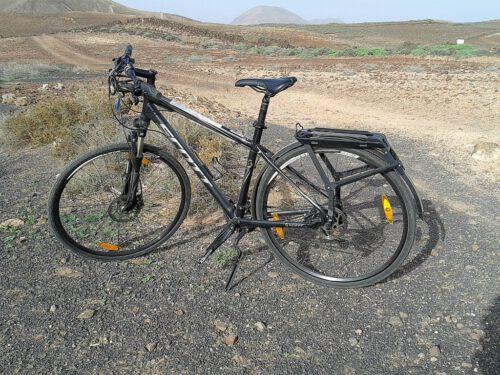 Statt bloß eines Citybikes gab es für's selbe Geld sogar ein vollständiges Trekkingbike, das sich für weitere Erkundungsfahrten eignete.