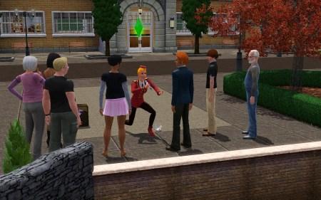 """Auf den Straßen der Welten von """"Die Sims 3"""" ist immer was los und man kann allerlei NPCs bei ihrem Treiben beobachten."""