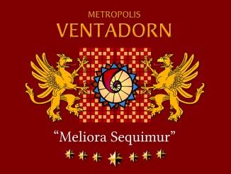 "Wappenschild (""Coat of Arms"") der Metropolis Ventadorn (Grafik: Martin Dühning)"