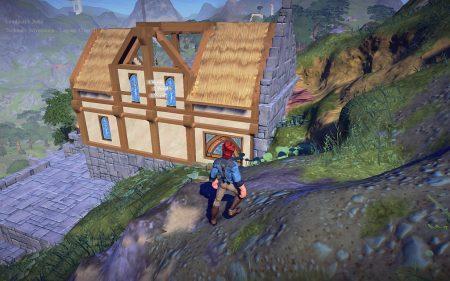 Cair Andune in einer frühen Bauphase von oben betrachtet. Als besonders schwierig erwiesen sich Dachgauben, weshalb ich sie später auch wieder entfernt habe.