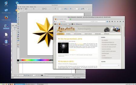 """Mint Linux """"Rosa"""" mit einigen nützlichen Anwendungen - es gibt ja auch eine freie Linuxversion unseres Lieblingsgrafikprogramms Xara Xtreme."""