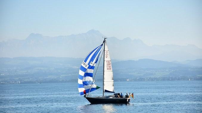 Ein Segelschiff auf dem Bodensee (Foto: Martin Dühning)