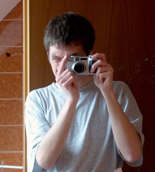 Mein erstes Selfie mit meiner ersten Digitalkamera im April 2002 (Foto: Martin Dühning)