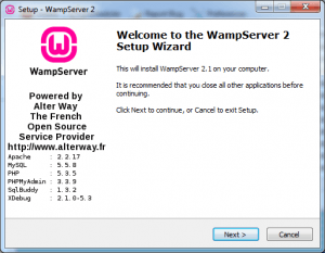 Downloading and using WAMP Server