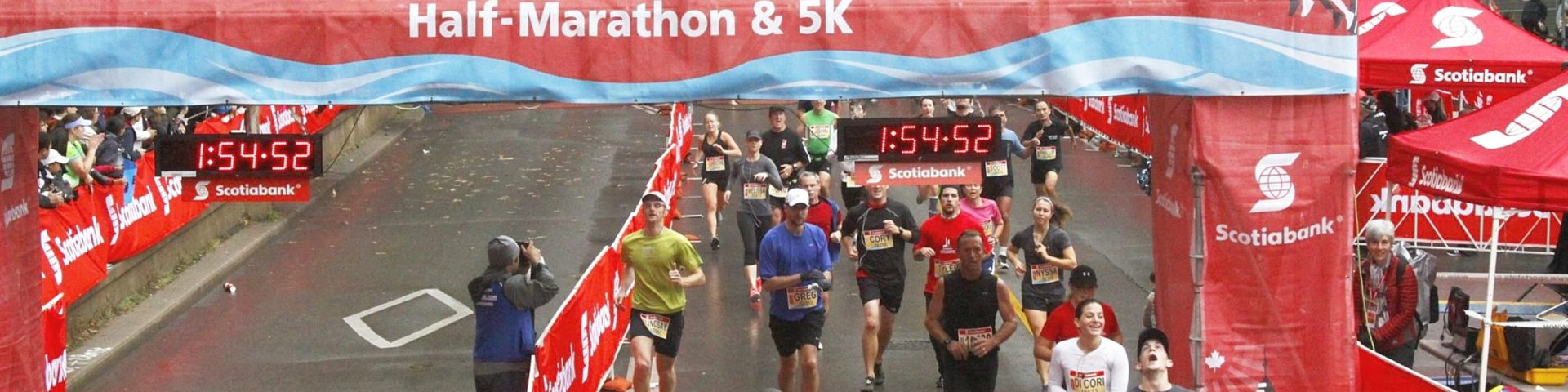 Finishing my first half marathon at the Scotiabank Waterfront marathon in 2012, the first part of my journey from couch to half-ironman