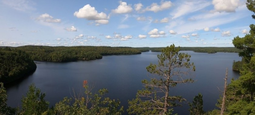 A view of Stormy Lake from atop the Fire Tower Trail