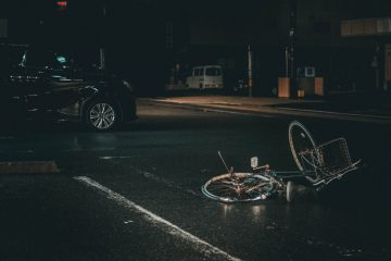 Image of a bike accident for my post on bike safety and ghost bikes