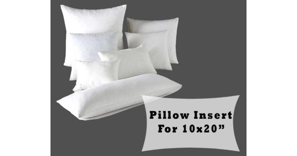 fiber fill lumbar pillow forms 10x20 cushion cover polyester insert