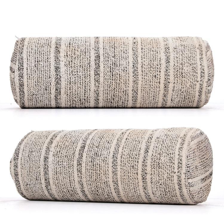gray striped turkish kilim pillow cylinder bolster sofa decor cushion