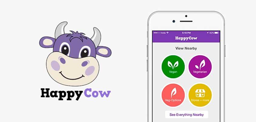 Happy Cow, encuentra restaurantes veganos y vegetarianos cerca de ti!