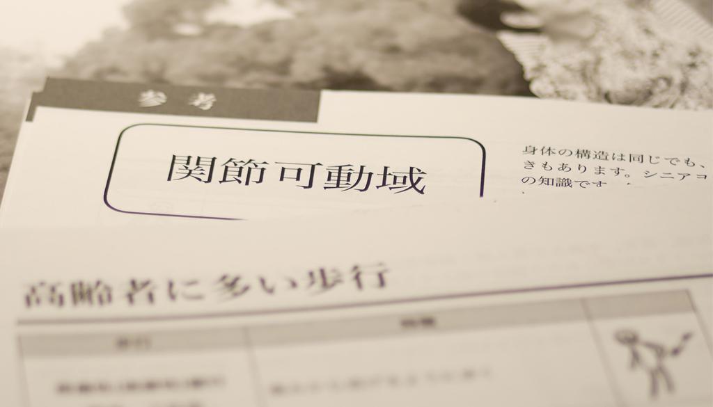 内田かつのり先生のシニアヨガテキストの一部