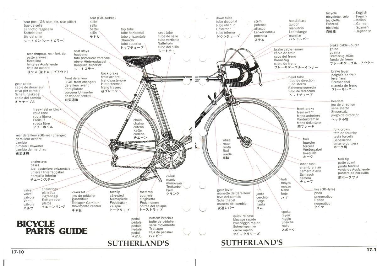 Bicycle Parts Name In French Diagram