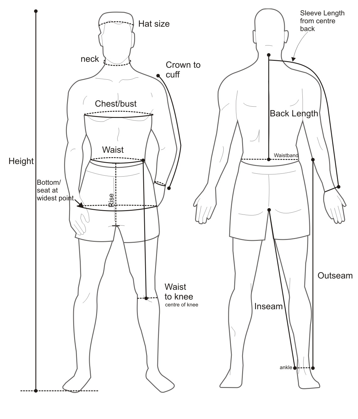 Male Body Anterior View Posterior View Body Parts Name Diagram