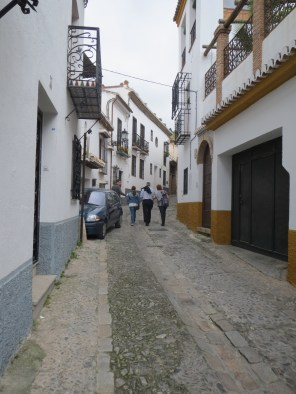 Streets of Granada on walking tour