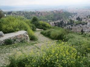 Granada hill on walking tour