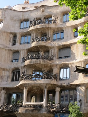 The house by Gaudi that is unfinished because the woman who commissioned it hated it. It's based on the sea