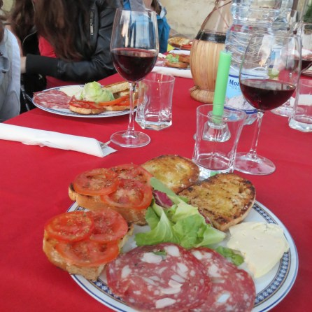 Traditional dinner at a Tuscan farmhouse