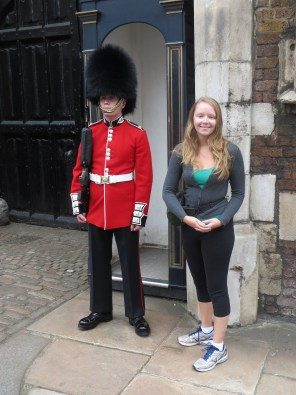 Mini changing of the guard next to St James Palac