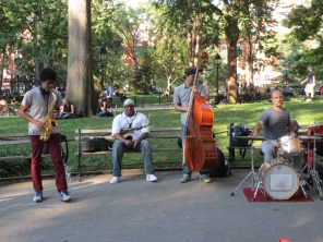 Jazz buskers at Washington Square Park
