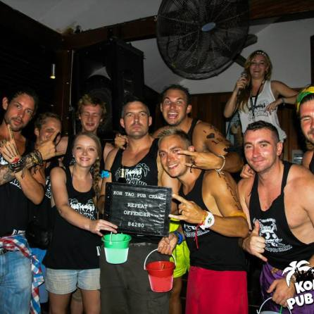 Repeat offenders - with the guys from the pool party on my first day in Koh Phi Phi!