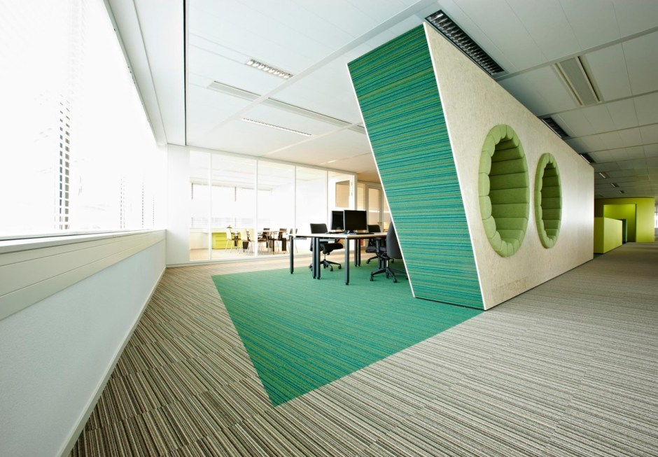 Modern Office Interior Designs Fantastic Office Interior Green Accent