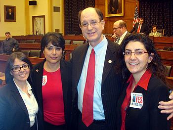 ANCA-WR Government Relations Director Lerna Kayserian Shirinian, ANCA-WR Chairwoman Aida Dimejian, Congressman Brad Sherman, and ANCA Government Relations Director Kate Nahapetian.