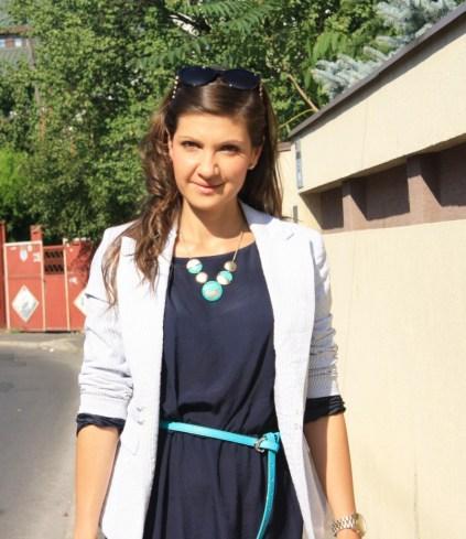 tinute office - rochie bleumarin 5