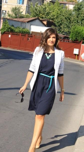 tinuta office - rochie bleumarin 1