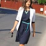 bleumarin si turcoaz – tinuta office de vara