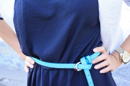 tinute office - rochie bleumarin 4