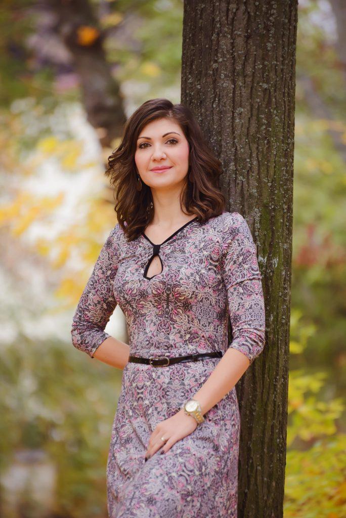 rochie jersey colorata
