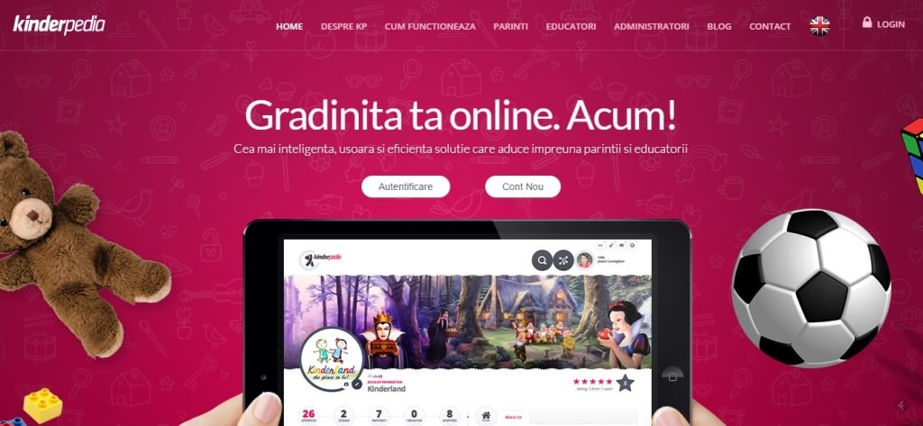 kinderpedia - platforma online gradinite