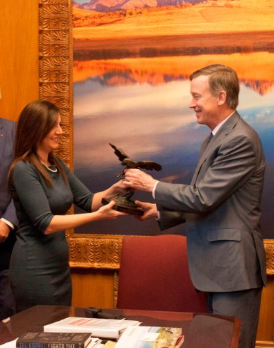 ANCA WR Presents Award to Governor Hickenlooper