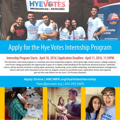 general internship flyer with hye votes
