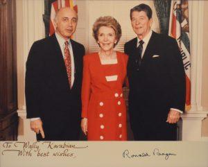Walter Karabian with President and Mrs. Ronald Reagan