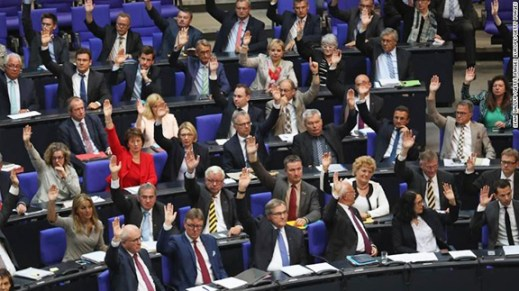 German Bundestag during vote on June 2, 2016 published in Asbarez, photo credit: Muriel Miral-Weissbach