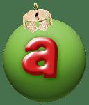 alphabet-boule-noel-vert-a