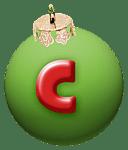 alphabet-boule-noel-vert-c