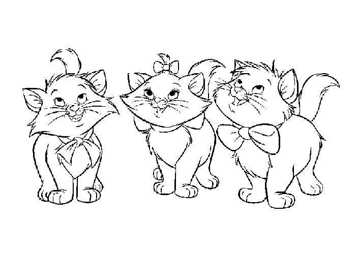 Free Baby Cat Coloring Pages