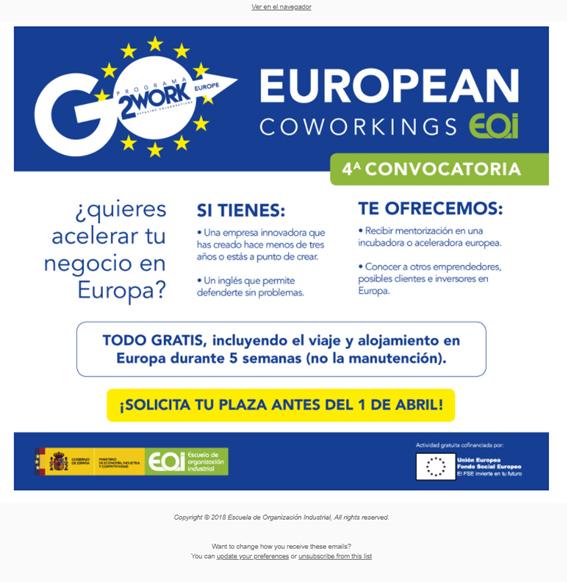 """El CEEI de Guadalajara colabora en la cuarta edición del programa de """"European Coworkings"""