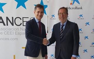 ANCES y MicroBank suscriben un convenio de colaboración para impulsar la actividad emprendedora con carácter innovador