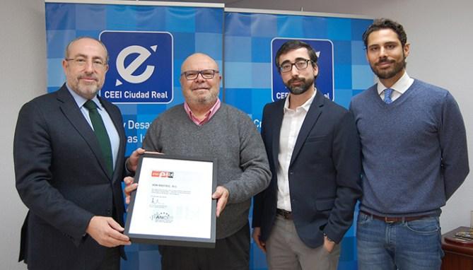 El CEEI Ciudad Real hace entrega del sello EIBT a la empresa Ion Biotec