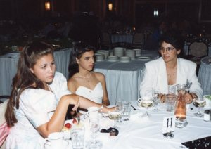 Dimatra, her daughter, and Melanie at a wedding