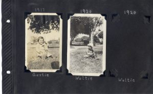 Page from Photo Album, Gertrude and Walter