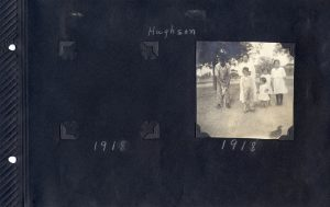 Page from Photo Album of family in Hughson